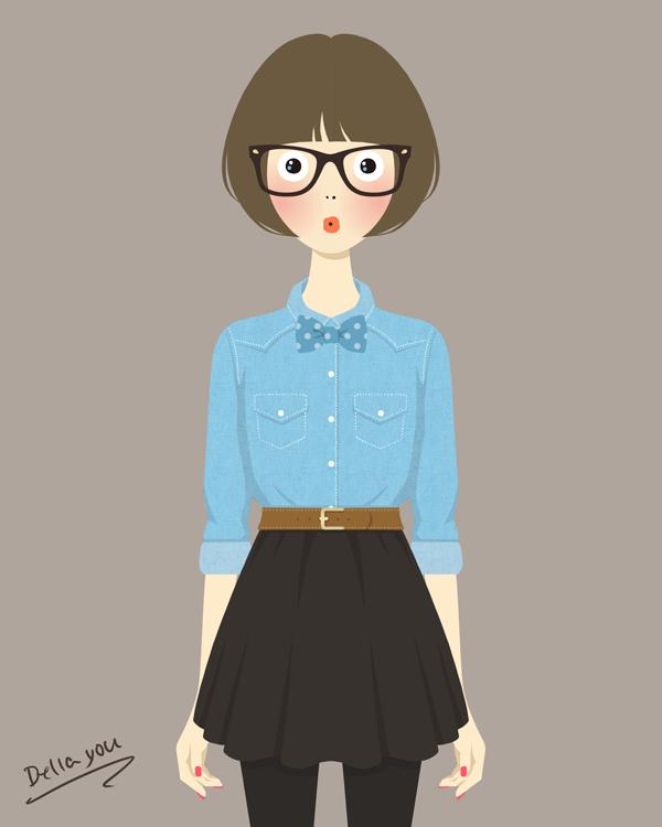 かわいいファッションイラスト